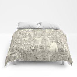 vintage halloween drab ivory Comforters