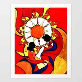 Sunset on This Day Art Print
