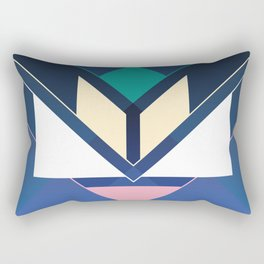 Tangram Lotus Two Rectangular Pillow