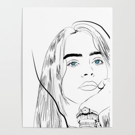 Billie Eilish Handrawing Poster