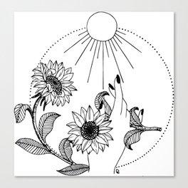 The Sun Canvas Print