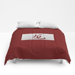 Chinese zodiac sign Dragon red Comforters