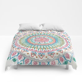 Color on White Comforters