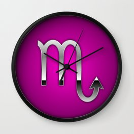 Zodiac Scorpio Wall Clock