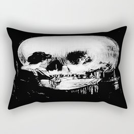 All Is Vanity: Halloween Life, Death, and Existence Rectangular Pillow