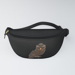 Cool Owl With A Hat | Night Active In The Clubs. Fanny Pack
