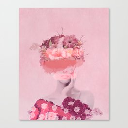 Woman in flowers Canvas Print
