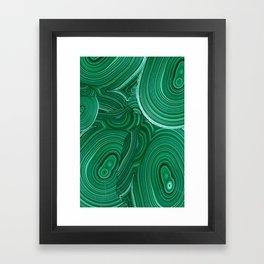 Green Malachite Nature Pattern Design Abstract Framed Art Print