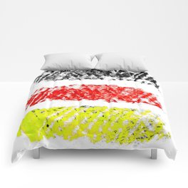 Flag of Germany 3-chalk version Comforters