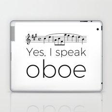 Yes, I speak oboe (2) (white) Laptop & iPad Skin