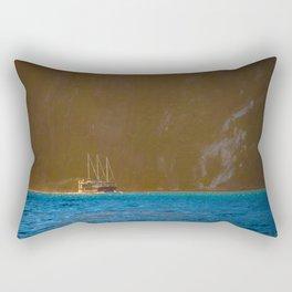 Milford Mariner at the Mouth of Tasman Sea - Milford Sound, New Zealand Rectangular Pillow
