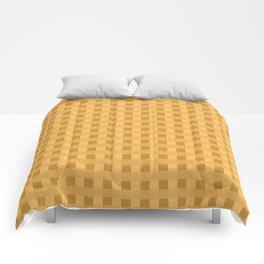 Retro Orange Squares Comforters