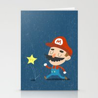 mario Stationery Cards featuring Mario by Rod Perich