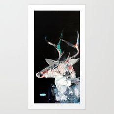 Iced Deer Art Print