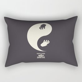 The night of the hunter, minimal movie poster (Robert Mitchum, Charles Laughton) classic Hollywood Rectangular Pillow