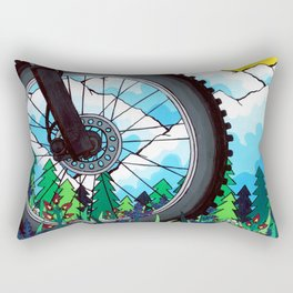 Bike Tire Rectangular Pillow