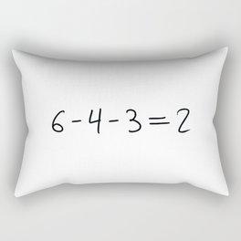 Double Play Equation Rectangular Pillow