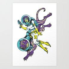Space Advenure Art Print