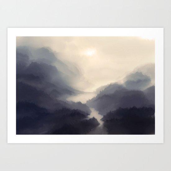 Mistscape Art Print