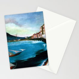 Castellamare di Stabia, Bay of Naples, Italy Waterfront by Tivadar Csontváry Kosztka Stationery Cards