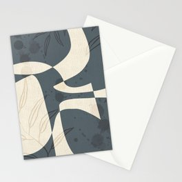 Abstract - Vase Shapes in Evening Dove Stationery Cards