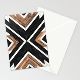 Urban Tribal Pattern No.1 - Concrete and Wood Stationery Cards