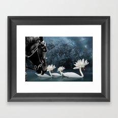Tribal Swans Framed Art Print