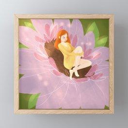 Sleeping Flower Framed Mini Art Print