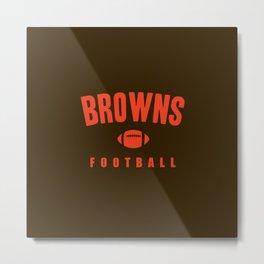 Browns Football Metal Print