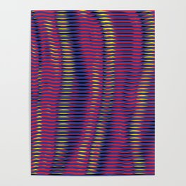 wave lines Poster