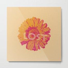 Lost Flower T-shirt Metal Print