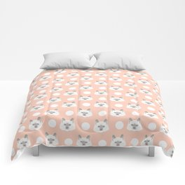 Ella - Birmin breed cat lovers pet owners cat person gift idea for cat lady hipster white cute kitte Comforters
