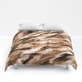 Beige on Beige Designer Camo pattern Comforters