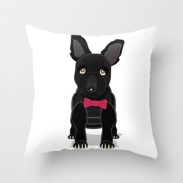 Bull the dog in a Bowtie Throw Pillow