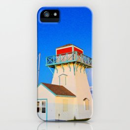 Summerside Harbour lighthouse iPhone Case