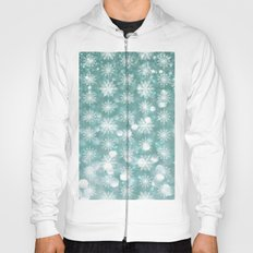 Holiday Teal and Flurries Hoody