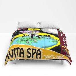 Vivita Spa, Toronto, Canada, Commercial Advert Artwork Comforters