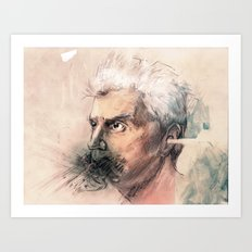 I'm a real live wire. - David Byrne Portrait Art Print