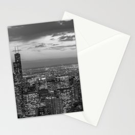 Chicago by Night Stationery Cards