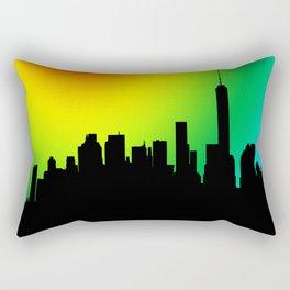 Manhattan Skyline coloured Rectangular Pillow