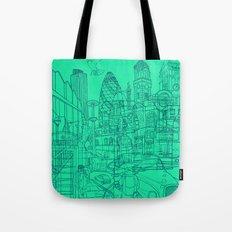 London! Mint Tote Bag