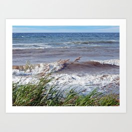Waves Rolling up the Beach Art Print