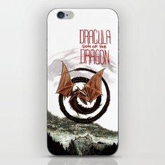Spiral Dragon over Poenari Castle iPhone & iPod Skin