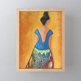 Turning Her Back on the Past Framed Mini Art Print