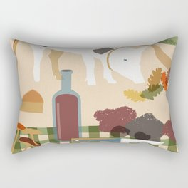 Truffle Hunting Rectangular Pillow