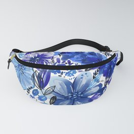 Blue flowers galore Fanny Pack