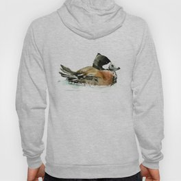 Ruddy Duck, duck artwork duck wall art design brown black Hoody
