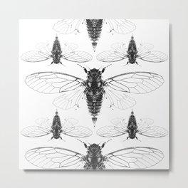 Divine Cicadas Metal Print