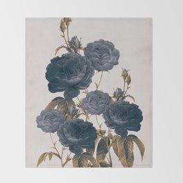 blue flowers Throw Blanket