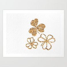 PAPERCUT FLOWER 4 Art Print